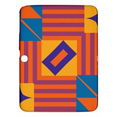 Shapes And Stripes Symmetric Design Samsung Galaxy Tab 3 (10 1 ) P5200 Hardshell Case  by LalyLauraFLM