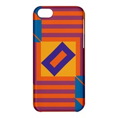 Shapes And Stripes Symmetric Design Apple Iphone 5c Hardshell Case by LalyLauraFLM