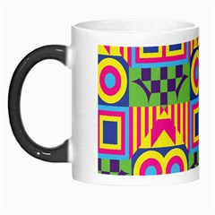Colorful Shapes In Rhombus Pattern Morph Mug by LalyLauraFLM
