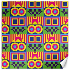 Colorful Shapes In Rhombus Pattern Canvas 12  X 12