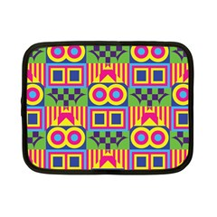 Colorful Shapes In Rhombus Pattern Netbook Case (small) by LalyLauraFLM
