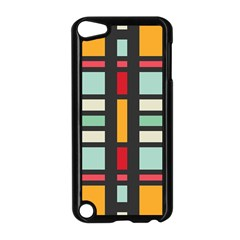 Mirrored Rectangles In Retro Colors Apple Ipod Touch 5 Case (black) by LalyLauraFLM