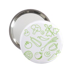 Green Vegetables 2 25  Handbag Mirrors