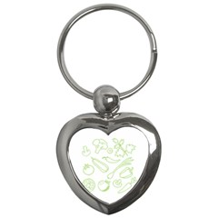 Green Vegetables Key Chains (heart)