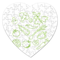 Green Vegetables Jigsaw Puzzle (heart) by Famous