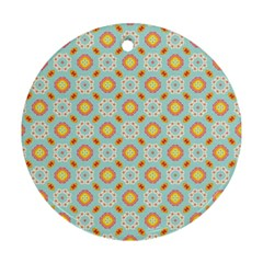 Cute Seamless Tile Pattern Gifts Round Ornament (two Sides)  by creativemom