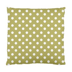 Lime Green Polka Dots Standard Cushion Cases (two Sides)
