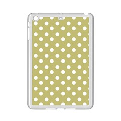 Lime Green Polka Dots Ipad Mini 2 Enamel Coated Cases by creativemom