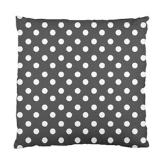 Gray Polka Dots Standard Cushion Cases (two Sides)