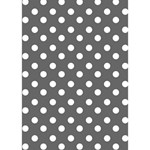 Gray Polka Dots I Love You 3D Greeting Card (7x5)  Inside