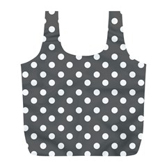 Gray Polka Dots Full Print Recycle Bags (l)  by creativemom