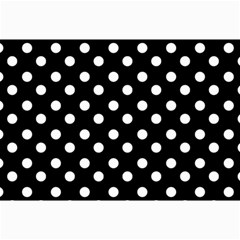 Black And White Polka Dots Collage 12  X 18  by creativemom