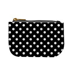 Black And White Polka Dots Mini Coin Purses by creativemom