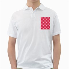 Hot Pink Polka Dots Golf Shirts by creativemom