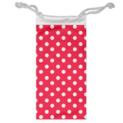 Hot Pink Polka Dots Jewelry Bags by creativemom