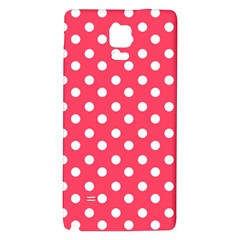 Hot Pink Polka Dots Galaxy Note 4 Back Case by creativemom