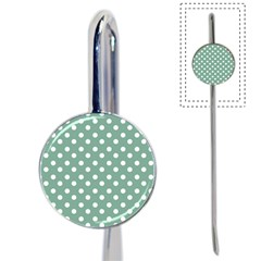 Mint Green Polka Dots Book Mark by creativemom
