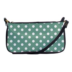 Mint Green Polka Dots Shoulder Clutch Bags by creativemom