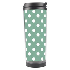 Mint Green Polka Dots Travel Tumblers by creativemom