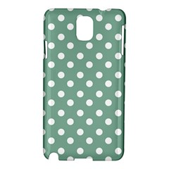 Mint Green Polka Dots Samsung Galaxy Note 3 N9005 Hardshell Case by creativemom