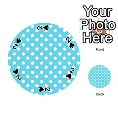 Sky Blue Polka Dots Playing Cards 54 (round)