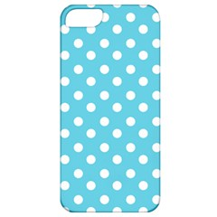 Sky Blue Polka Dots Apple Iphone 5 Classic Hardshell Case by creativemom