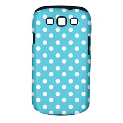 Sky Blue Polka Dots Samsung Galaxy S Iii Classic Hardshell Case (pc+silicone)