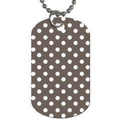 Brown And White Polka Dots Dog Tag (two Sides) by creativemom