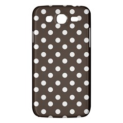 Brown And White Polka Dots Samsung Galaxy Mega 5 8 I9152 Hardshell Case  by creativemom