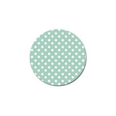 Light Blue And White Polka Dots Golf Ball Marker (4 Pack) by creativemom
