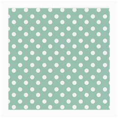 Light Blue And White Polka Dots Medium Glasses Cloth by creativemom