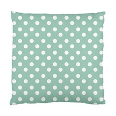 Light Blue And White Polka Dots Standard Cushion Cases (two Sides)  by creativemom