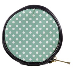 Light Blue And White Polka Dots Mini Makeup Bags by creativemom