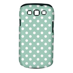 Light Blue And White Polka Dots Samsung Galaxy S Iii Classic Hardshell Case (pc+silicone) by creativemom