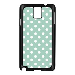 Light Blue And White Polka Dots Samsung Galaxy Note 3 N9005 Case (black) by creativemom