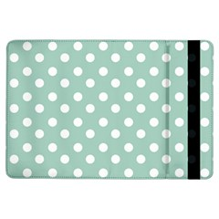 Light Blue And White Polka Dots Ipad Air Flip by creativemom