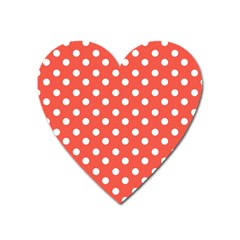 Indian Red Polka Dots Heart Magnet by creativemom