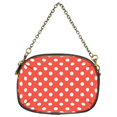 Indian Red Polka Dots Chain Purses (two Sides)  by creativemom