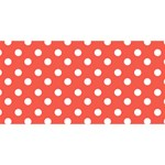 Indian Red Polka Dots ENGAGED 3D Greeting Card (8x4)  Front
