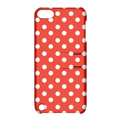 Indian Red Polka Dots Apple Ipod Touch 5 Hardshell Case With Stand by creativemom