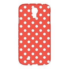 Indian Red Polka Dots Samsung Galaxy S4 I9500/i9505 Hardshell Case by creativemom