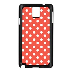 Indian Red Polka Dots Samsung Galaxy Note 3 N9005 Case (black) by creativemom