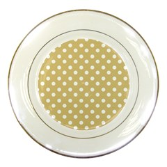 Mint Polka And White Polka Dots Porcelain Plates by creativemom