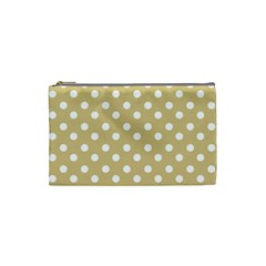 Mint Polka And White Polka Dots Cosmetic Bag (small)  by creativemom