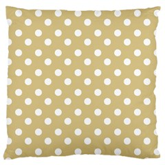 Mint Polka And White Polka Dots Large Cushion Cases (one Side)
