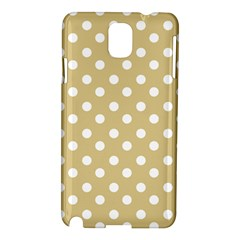 Mint Polka And White Polka Dots Samsung Galaxy Note 3 N9005 Hardshell Case by creativemom