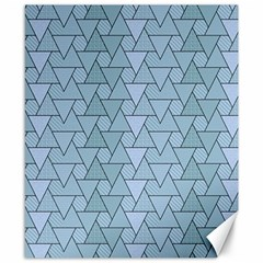 Geo Fun 7 Light Blue Canvas 8  X 10  by MoreColorsinLife