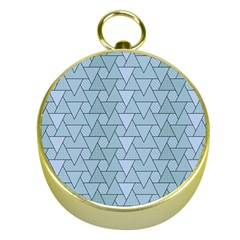 Geo Fun 7 Light Blue Gold Compasses by MoreColorsinLife