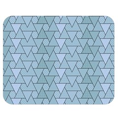 Geo Fun 7 Light Blue Double Sided Flano Blanket (medium)  by MoreColorsinLife