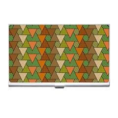 Geo Fun 7 Warm Autumn  Business Card Holders by MoreColorsinLife